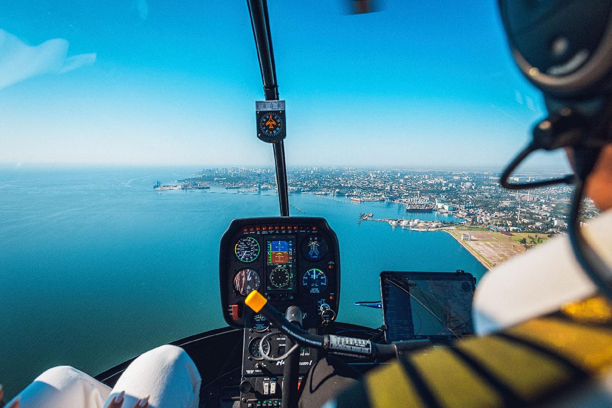 Полет на вертолете над Одессой 18 минут