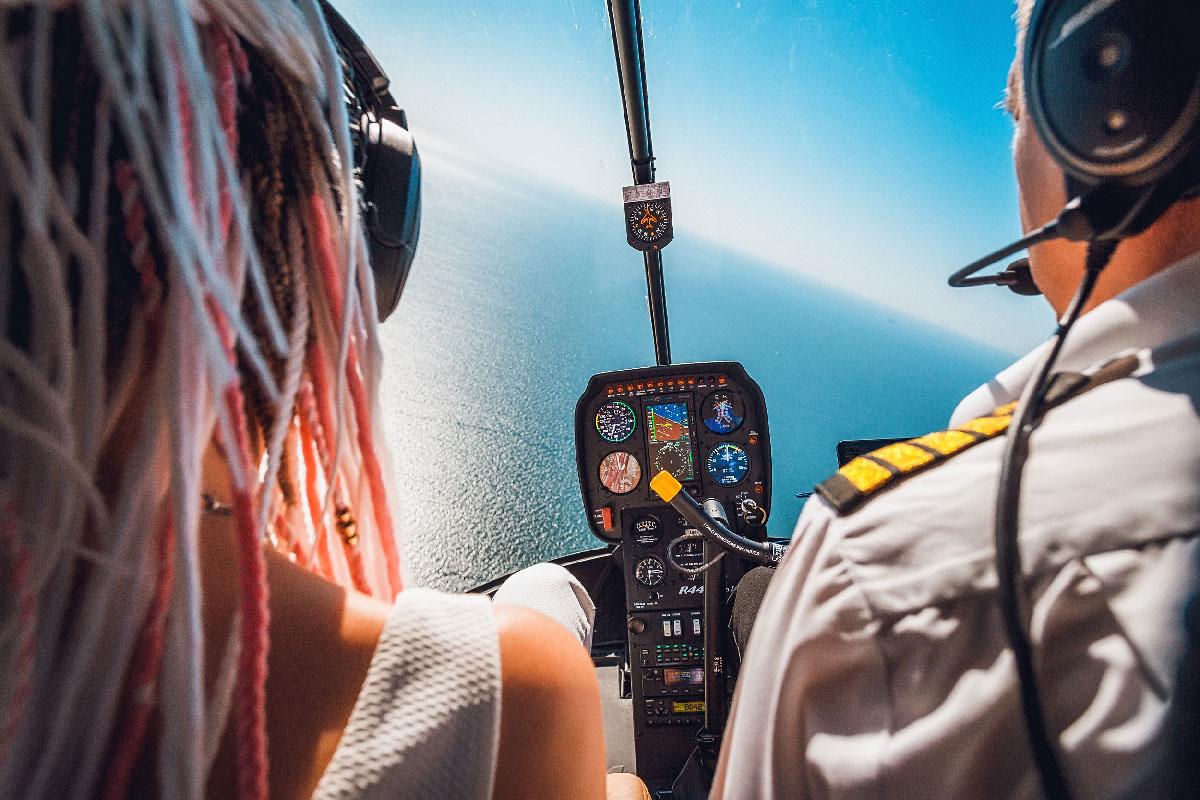Полет на вертолете над Одессой 24 минуты